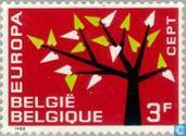 Postage Stamps - Belgium [BEL] - Europe – Tree with 19 Leaves