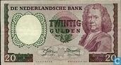 Banknotes - Erflaters I - 20 guilder Netherlands 1955