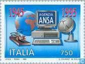 Timbres-poste - Italie [ITA] - L'Agence de presse ANSA 50 ans