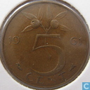 Coins - the Netherlands - Netherlands 5 cents 1961