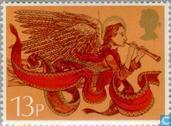 Briefmarken - Großbritannien [GBR] - Weihnachten - Musiker Engel