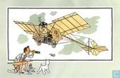 """Chromo's """" Vliegtuigen collectie B reeks 1"""" 5 """"De 'Demoiselle' van Santos-Dumont (1909)"""""""
