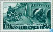 Postzegels - Italië [ITA] - Opening Simplon tunnel