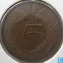 Coins - the Netherlands - Netherlands 5 cent 1956