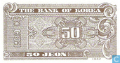 Bankbiljetten - The Bank of Korea - Zuid Korea 50 Jeon -1-