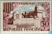 Postage Stamps - France [FRA] - Castle Perpignan
