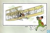 """Bandes dessinées - Kuifjesbon producten - Chromo's """"Vliegtuigen oorsp. tot 1700"""" 6 """"Het Toestel van de Gebroeders Wright"""""""