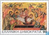 Postage Stamps - Greece - Biblical scenes