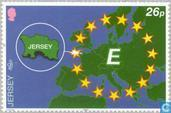 Postage Stamps - Jersey - Europe – Tower of stars