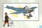"""Comics - Kuifjesbon producten - Chromo's """"Vliegtuigen oorsp. tot 1700"""" 35"""