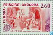 Postage Stamps - Andorra - French - Europe – Human Genius