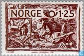 Briefmarken - Norwegen - Norden-Geschirr