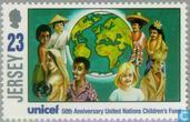 Postage Stamps - Jersey - 50 years UNICEF