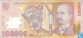 Billets de banque - Roumanie - 2000-2004 Polymer Issue - Roumanie 100.000 Lei 2001 (2002)