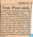 Comic Books - Bumble and Tom Puss - Tom Poes is ziek