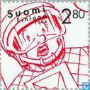 Timbres-poste - Finlande - 280 rouge / blanc