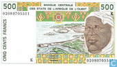 West Afr Stat. 500 Francs K