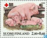 Postage Stamps - Finland - 280 60 multi-colored / pink