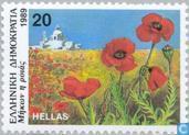 Briefmarken - Griechenland - Blumen