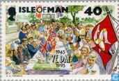 Postzegels - Man - Einde W.O. II 1945-1995