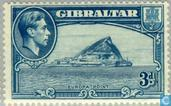 Timbres-poste - Gibraltar - George VI, Paysages. Europa Point