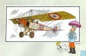 """Comics - Kuifjesbon producten - Chromo's """"Vliegtuigen oorsp. tot 1700"""" 50"""