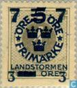 Postage Stamps - Sweden [SWE] - July 3 # 4 # 5 + FEM gray