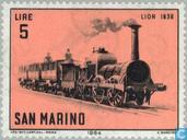Timbres-poste - Saint-Marin - Locomotives