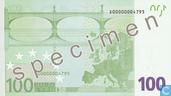 Banknotes - Eurozone - 2002 Dated 'Signature J.C. Trichet' Issue - Eurozone 100 Euro (Specimen)