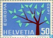 Postage Stamps - Switzerland [CHE] - Europe – Tree with 19 Leaves