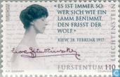 Postage Stamps - Liechtenstein - Europe – Famous women