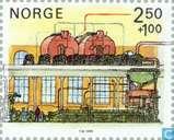 Postzegels - Noorwegen - Papierindustrie