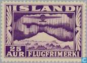 Timbres-poste - Islande - 25 violet