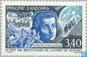 Postage Stamps - Andorra - French - Mozart, Amadeus 200th year of death