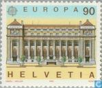 Timbres-poste - Suisse [CHE] - Europe – Bâtiments postaux
