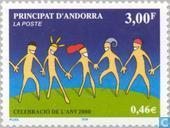 Postage Stamps - Andorra - French - Millennium