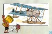"""Comics - Kuifjesbon producten - Chromo's """"Vliegtuigen oorsp. tot 1700"""" 60"""