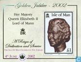 Postzegels - Man - Koningin Elizabeth II