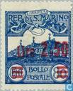 Timbres-poste - Saint-Marin - Surcharge