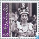 Postage Stamps - Gibraltar - Queen Elizabeth II-75th anniversary