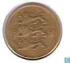 Monnaies - Estonie - Estonie 5 senti 1991