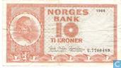 Billets de banque - Norvège - 1948-1976 Issue - Norvège 10 Kroner 1969