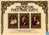 Postzegels - Liechtenstein - Vorst Franz Josef II - 75e verjaardag
