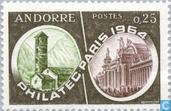 Postage Stamps - Andorra - French - Stamp Exhibition Philatec