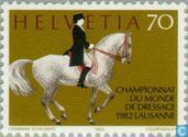Postage Stamps - Switzerland [CHE] - World Cup Dressage