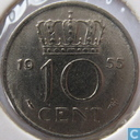 Monnaies - Pays-Bas - Pays Bas 10 cent 1955