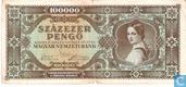 Hongrie 100.000 Pengö 1945
