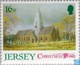 Postage Stamps - Jersey - Churches