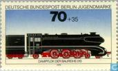 Postage Stamps - Berlin - Locomotives