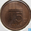 Monnaies - Pays-Bas - Pays Bas 5 cent 1984
